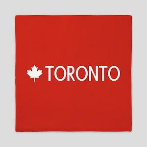 Toronto (White Maple Leaf) Queen Duvet