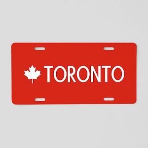 Toronto (White Maple Leaf) Aluminum License Plate