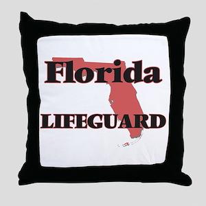 Florida Lifeguard Throw Pillow