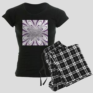 Flower Purple Women's Dark Pajamas