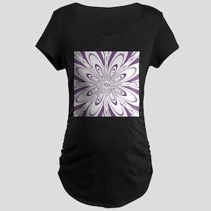 Flower Purple Maternity T-Shirt