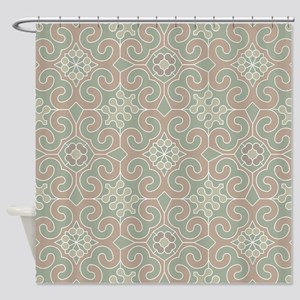 Sage Tile Shower Curtain
