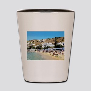 Greek Beach Day Shot Glass
