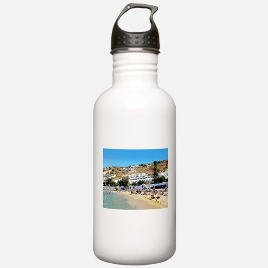 Greek Beach Day Water Bottle