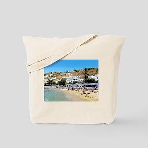 Greek Beach Day Tote Bag