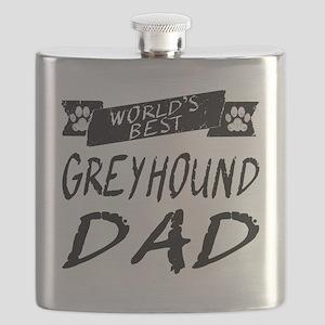 Worlds Best Greyhound Dad Flask