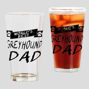 Worlds Best Greyhound Dad Drinking Glass