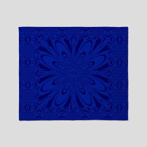 Blue Flower Throw Blanket