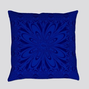 Blue Flower Everyday Pillow