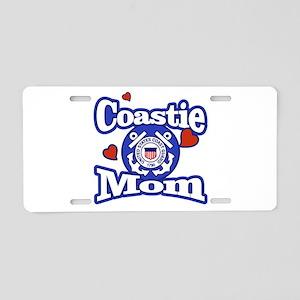 Coastie Mom Aluminum License Plate