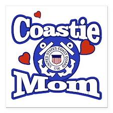 Coastie Mom Square Car Magnet 3