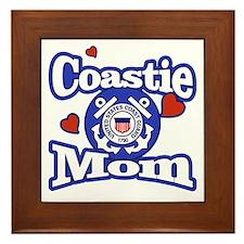 Coastie Mom Framed Tile