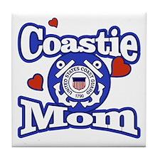Coastie Mom Tile Coaster