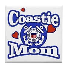 Coastie Mom Tile Coaster