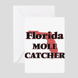 Florida Mole Catcher Greeting Cards