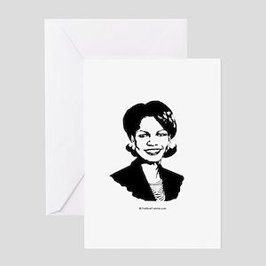Condi Rice Face Greeting Card