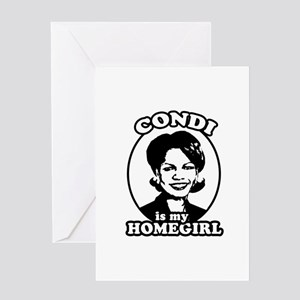 Condi is my homegirl Greeting Card