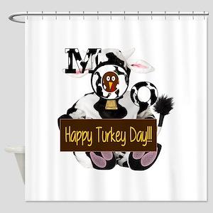 Turkey Day Humor Shower Curtain