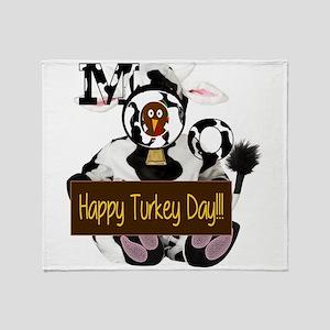 Turkey Day Humor Throw Blanket