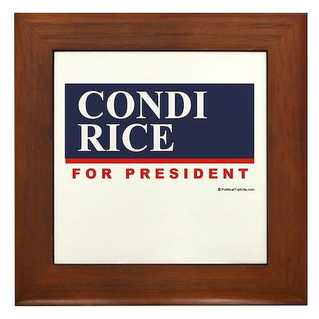 Condi RIce for President Framed Tile