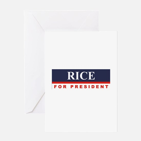 Condoleezza Rice for President Greeting Card