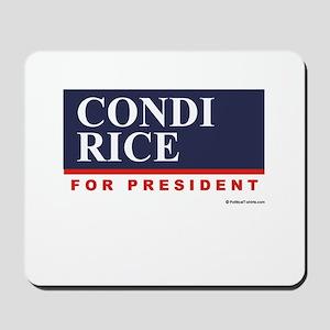 Condi RIce for President Mousepad