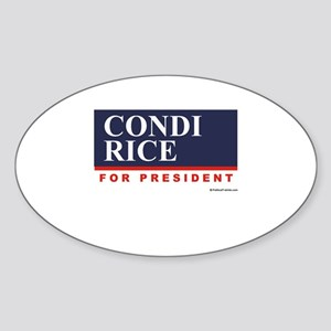 Condi RIce for President Oval Sticker
