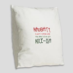 Nice-ish Burlap Throw Pillow