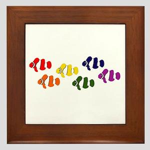 Clown Fish Gay Pride Framed Tile