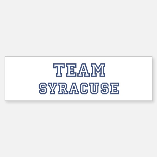 Team Syracuse Bumper Bumper Bumper Sticker