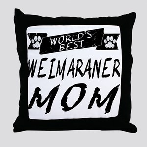 Worlds Best Weimaraner Mom Throw Pillow