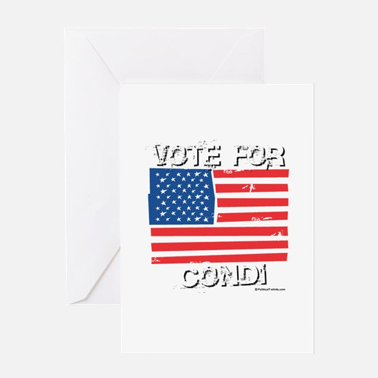 Vote for Condi Greeting Card