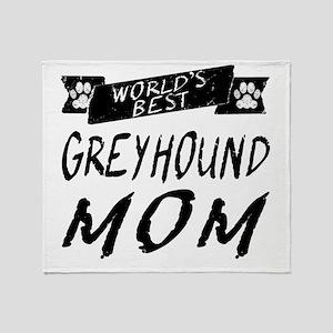 Worlds Best Greyhound Mom Throw Blanket