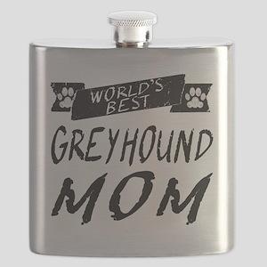 Worlds Best Greyhound Mom Flask