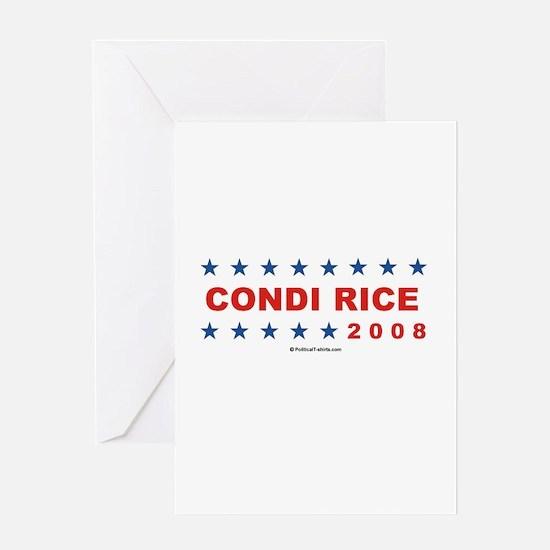 Condi Rice 2008 Greeting Card
