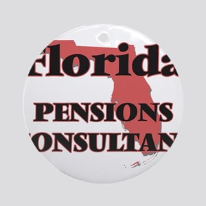 Florida Pensions Consultant Round Ornament