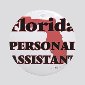 Florida Personal Assistant Round Ornament