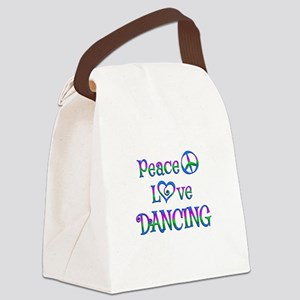 Peace Love Dancing Canvas Lunch Bag