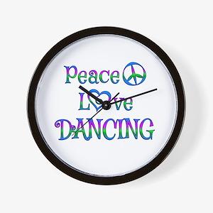 Peace Love Dancing Wall Clock