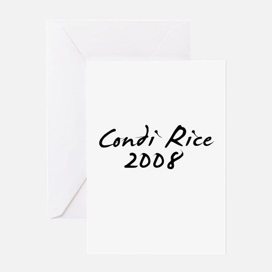 Condi Rice Autograph Greeting Card