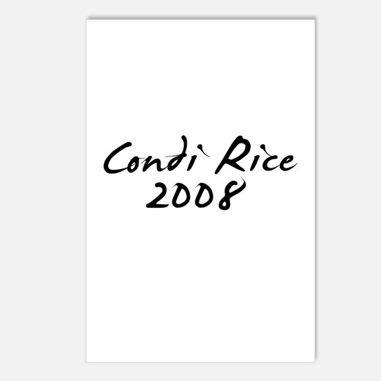 Condi Rice Autograph Postcards (Package of 8)
