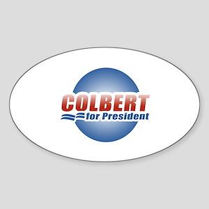 Colbert for President Oval Sticker