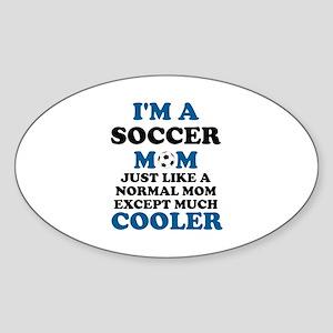 I'M A SOCCER MOM Sticker (Oval)