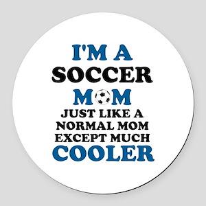 I'M A SOCCER MOM Round Car Magnet