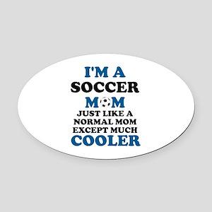 I'M A SOCCER MOM Oval Car Magnet