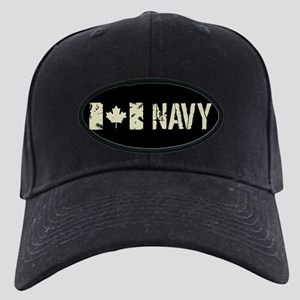 Canadian Flag: Navy Black Cap with Patch
