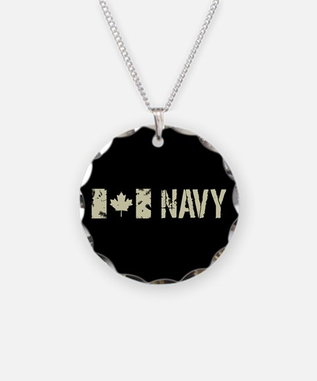 Canadian Flag: Navy Necklace