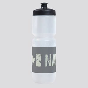 Canadian Flag: Navy Sports Bottle
