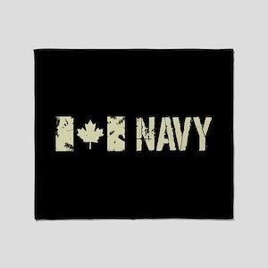 Canadian Flag: Navy Throw Blanket