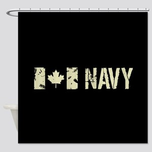 Canadian Flag: Navy Shower Curtain